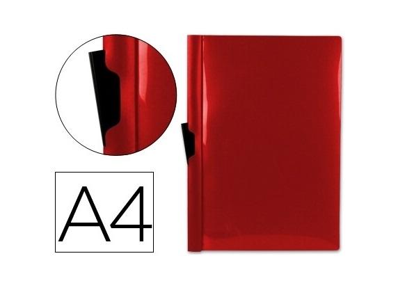 Bolsa Dossier A4 c/ Clip Lateral 30fls Vermelho