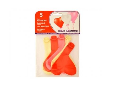 Balões com forma coração (Emb. 5)