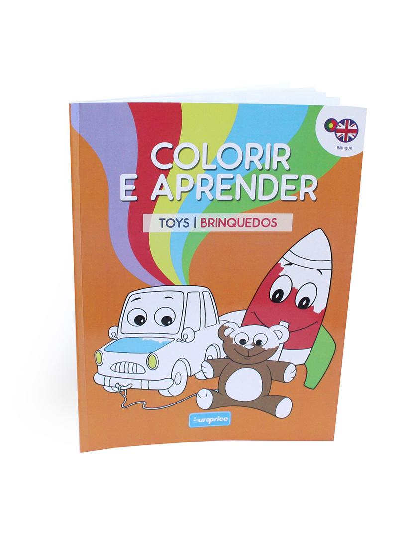 Livro Colorir e Aprender Toys/Brinquedos