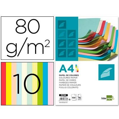 Papel A4 80g 10 cores (100fls)
