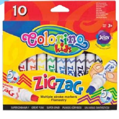 Marcador Zig Zag 10 Cores Colorino