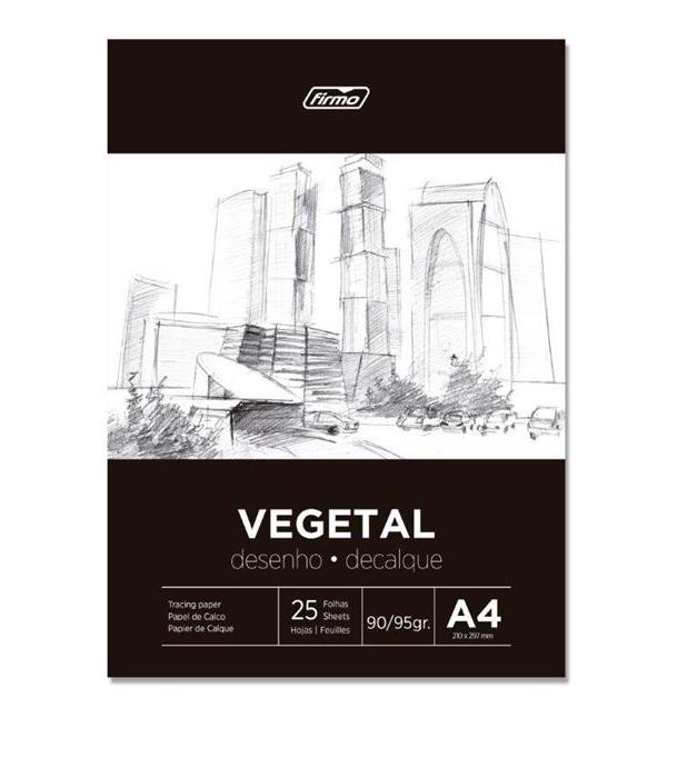 Papel A4 Vegetal 90/95g 25fls