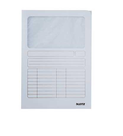 Pasta Documentos Cartolina A4 Branco 01 Leitz 3950