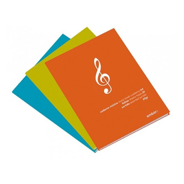 Caderno Musica A4 20fls Ambar