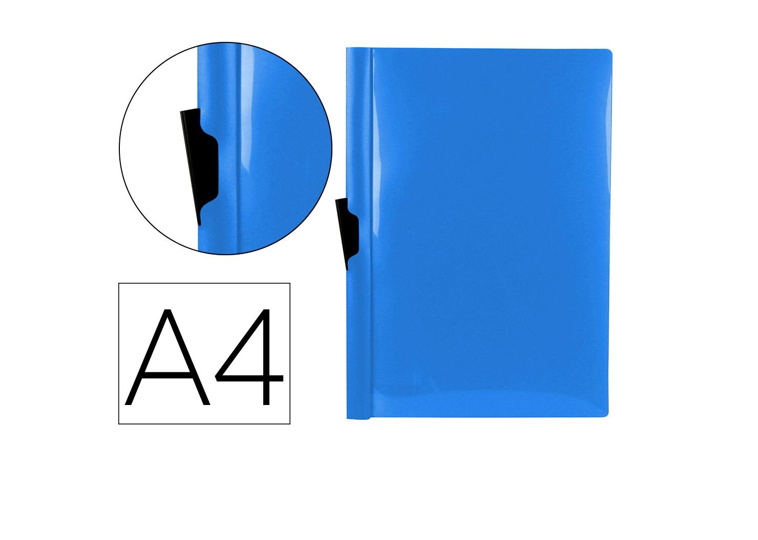 Bolsa Dossier A4 c/ Clip Lateral 60fls Azul