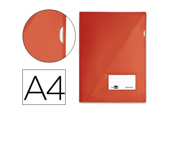 Bolsa Dossier A4 c/ Porta Etiquetas Vermelho