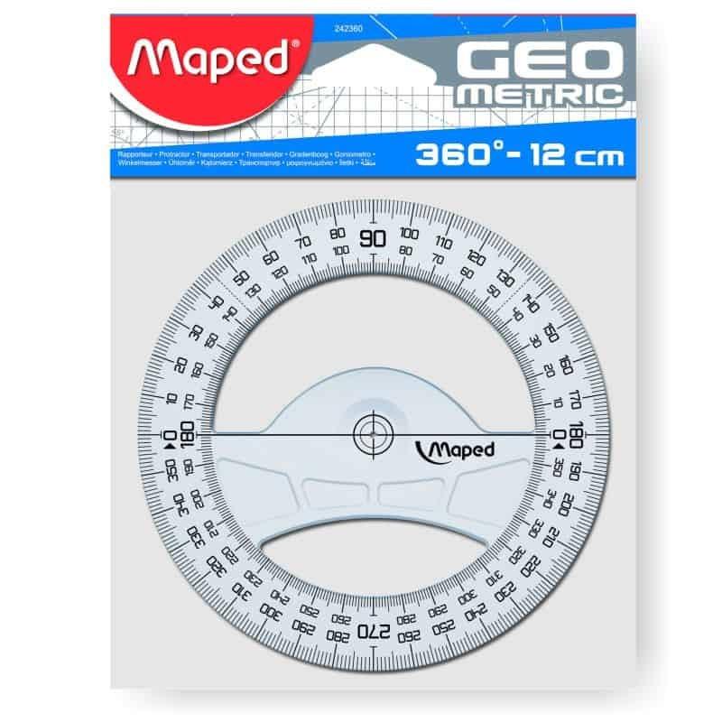 Transferidor 0-360º Maped 12cm