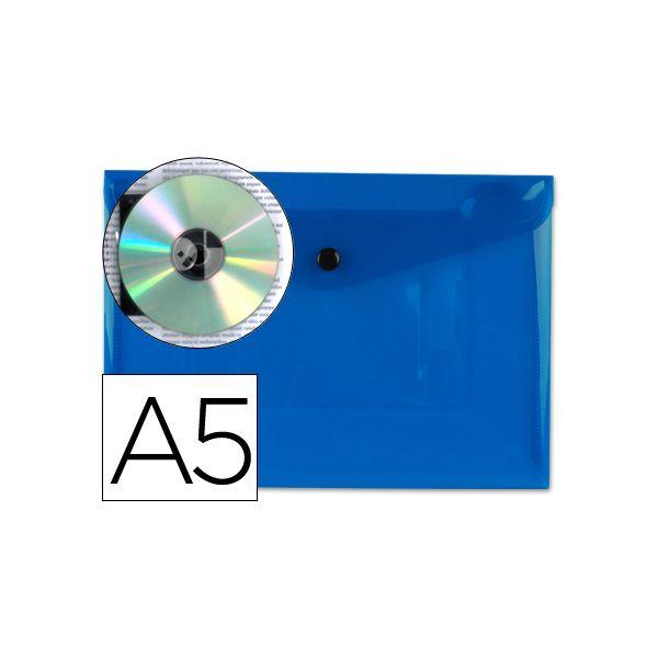 Bolsa Porta Documentos A5 c/ Mola Azul