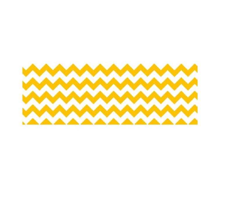Cartolina Chevron Amarelo 300g