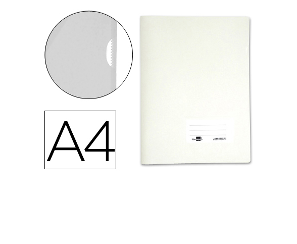 Bolsa Dossier A4 c/ Porta Etiquetas Branco