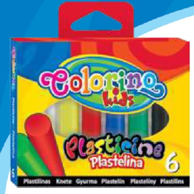 Plasticina 6 Cores Colorino