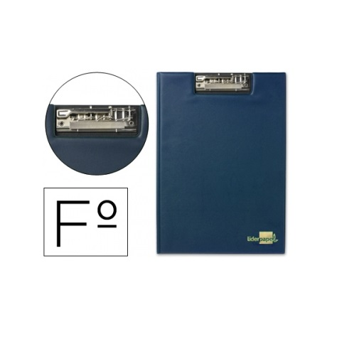 Porta Notas A4 c/ Mini Clip Superior Azul