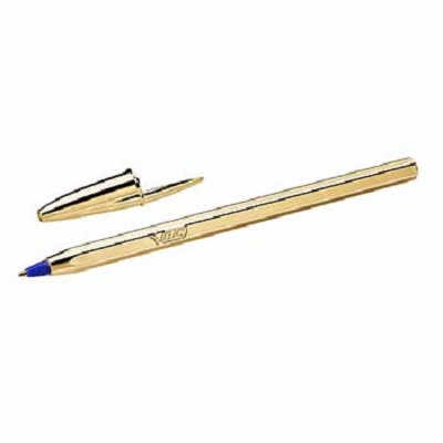 Bic Celebrate Cristal Ouro/Azul 1mm