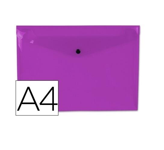 Bolsa Porta Documentos A4 c/ Mola Violeta