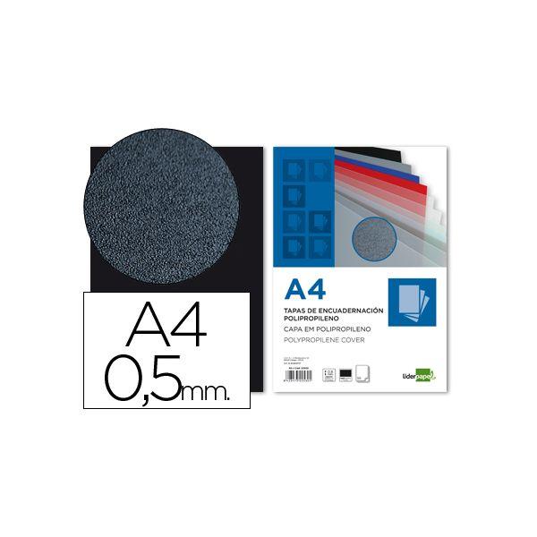 Capa A4 p/ Encadernacao 500 microns Preto (100un)