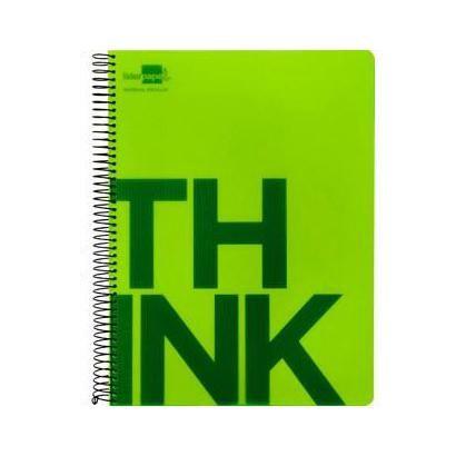 Caderno A7 Espiral 100fls Pautado Verde