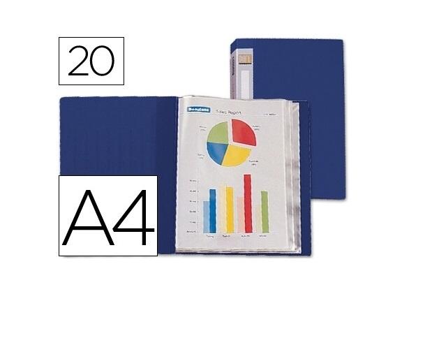 Capa Catalogo 20 Bolsas Azul Lombada Personalizavel