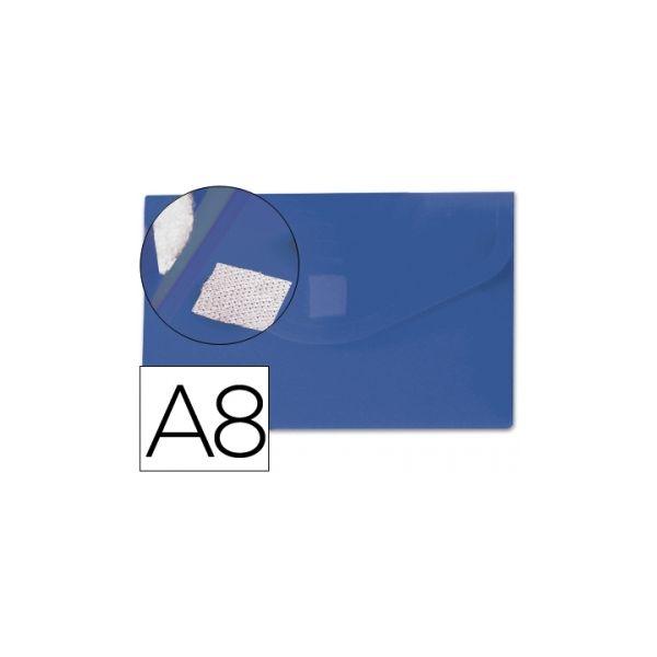 Bolsa Porta Documentos A8 c/ Velcro Azul