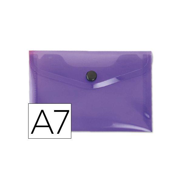 Bolsa Porta Documentos A7 c/ Mola Violeta
