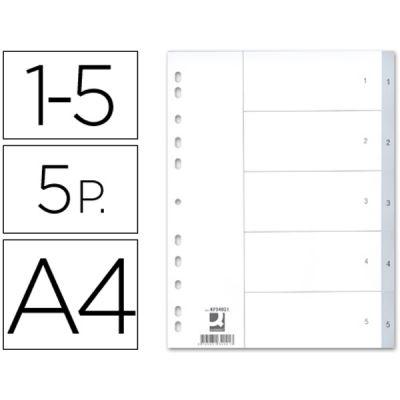 Separadores A4 1-5 PVC KF34021