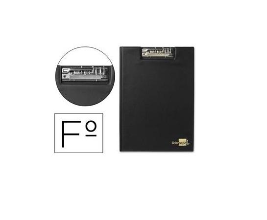 Porta Notas A4 c/ Mini Clip Superior Preto