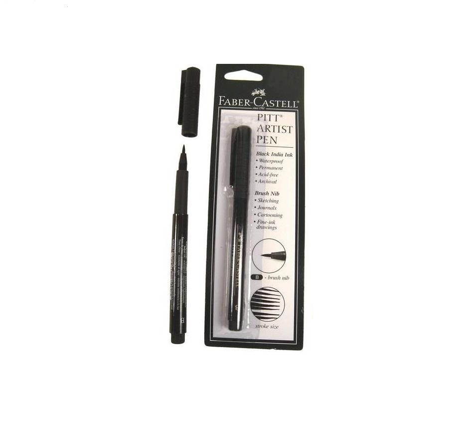 Marcador Faber Castell Pitt Artist Brush Pen Preto