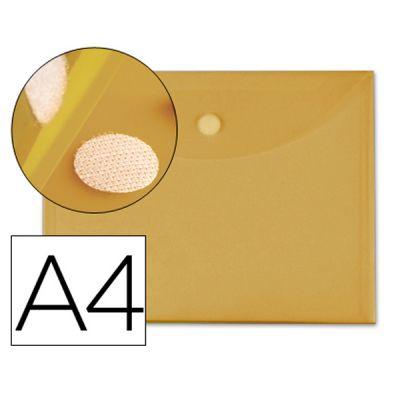 Bolsa Porta Documentos A4 c/ Velcro Amarelo