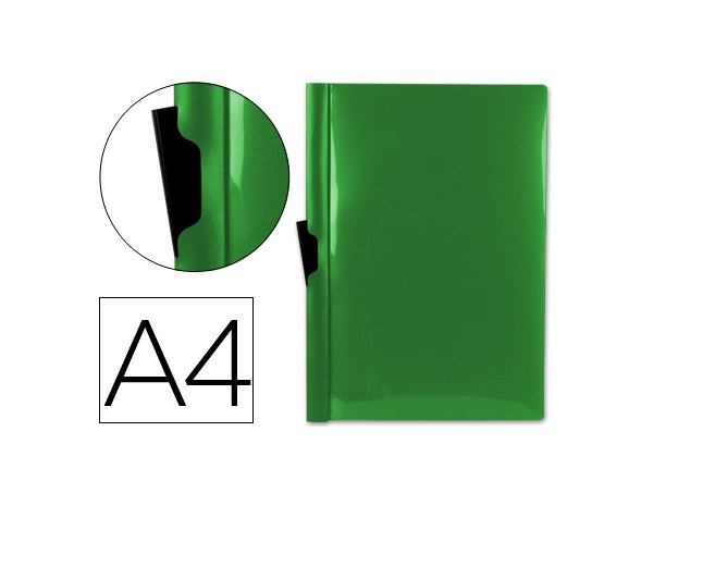 Bolsa Dossier A4 c/ Clip Lateral 30fls Verde