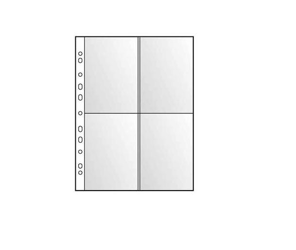 Bolsa p/ Postais 4 divisoes (un) A4