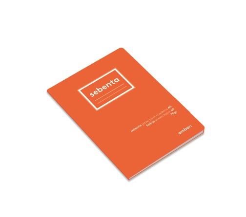 Caderno A5 Sebenta 60fls Ambar Lusa