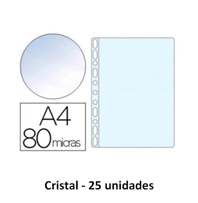 Bolsa Catalogo A4 80 microns (25un) Cristal