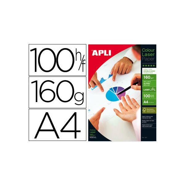 Papel A4 160g Glossy (100fls) Laser