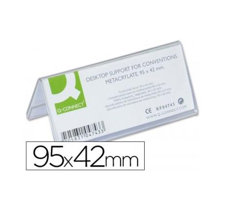 Identificadores Secretaria Q-Connect Acrilico 95X4