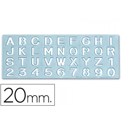 Escantilhao letras e numeros 20mm (altura da letra)