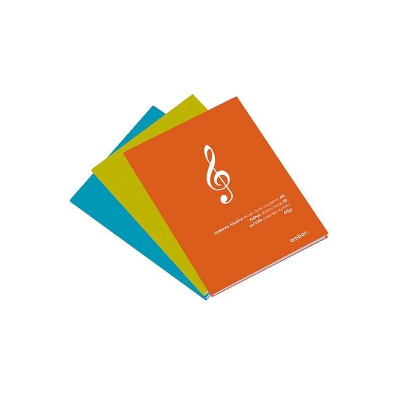 Caderno Musica A5 20fls Ambar