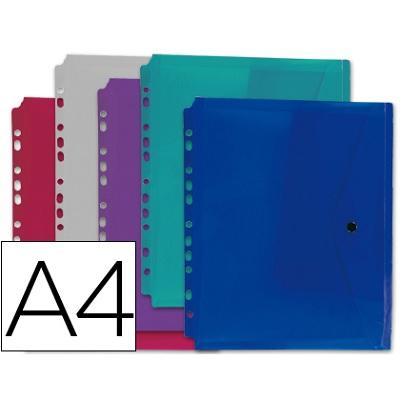 Bolsa Porta Documentos A4 Multiperfurada c/ Mola (1un)