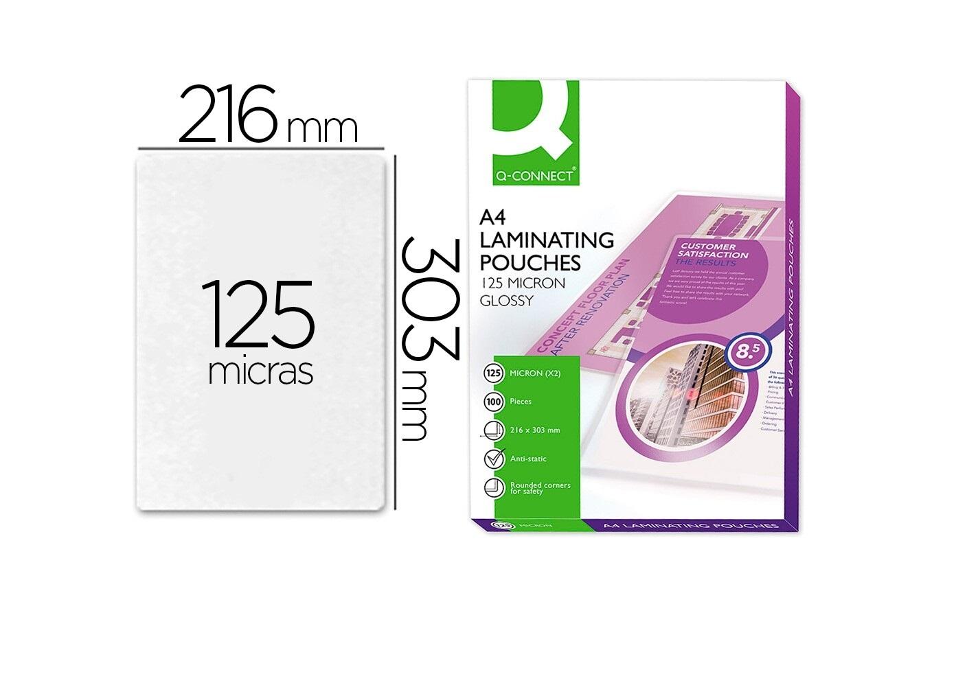 Bolsas Plastificação A4 (cx 100) 125mic