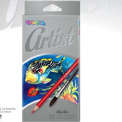 Lapis Aguarela 12 Cores Artist Colorino