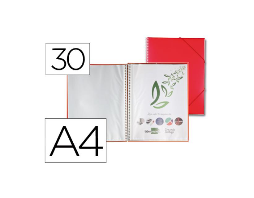 Capa Catalogo 30 Bolsas c/ Espiral Vermelho