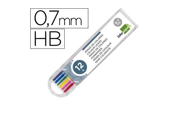 Minas 0.7mm Cores (tubo 12)