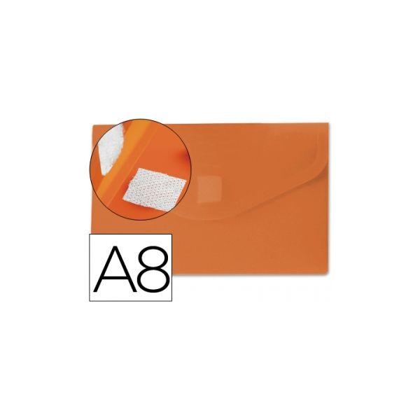 Bolsa Porta Documentos A8 c/ Velcro Laranja