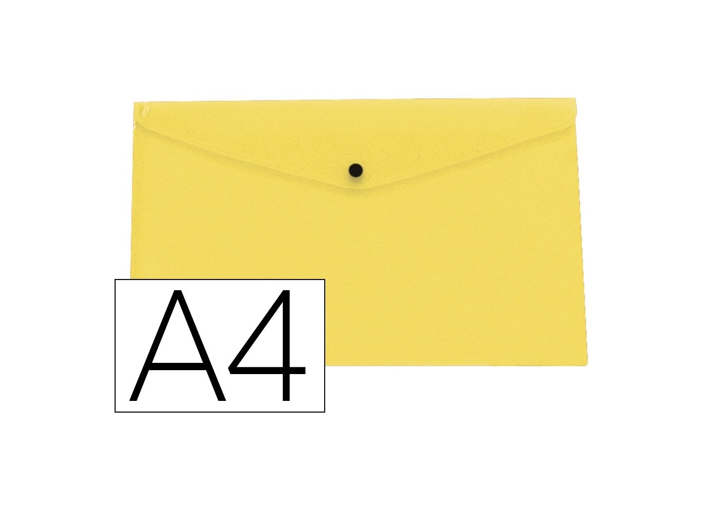 Bolsa Porta Documentos A4 c/ Mola Amarelo