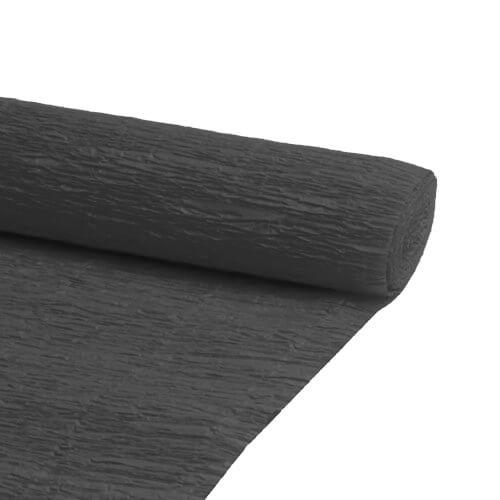 Papel Crepe Preto Rolo 0.5x2.5m