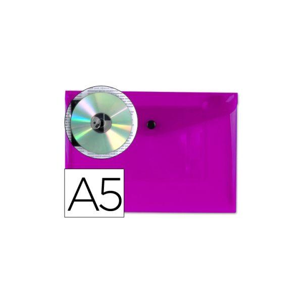 Bolsa Porta Documentos A5 c/ Mola Violeta