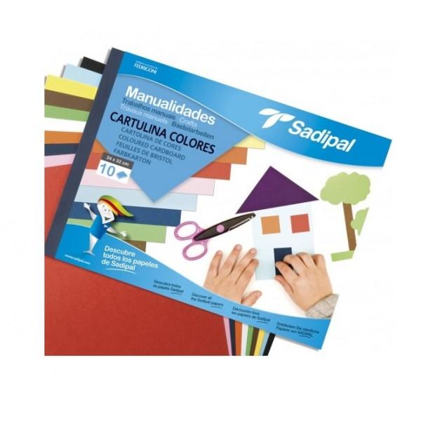 Bloco Trabalhos Manuais A4 246g 10fls Cartolina Cores