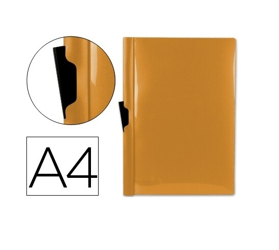 Bolsa Dossier A4 c/ Clip Lateral 30fls Laranja
