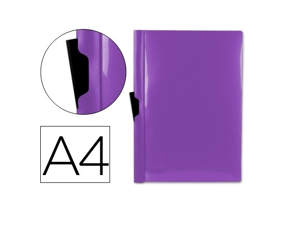 Bolsa Dossier A4 c/ Clip Lateral 30fls Violeta