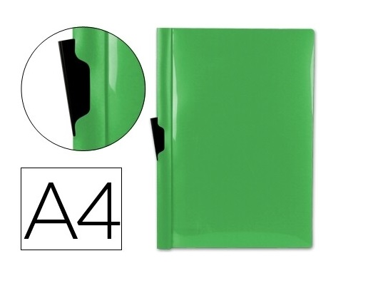 Bolsa Dossier A4 c/ Clip Lateral 60fls Verde