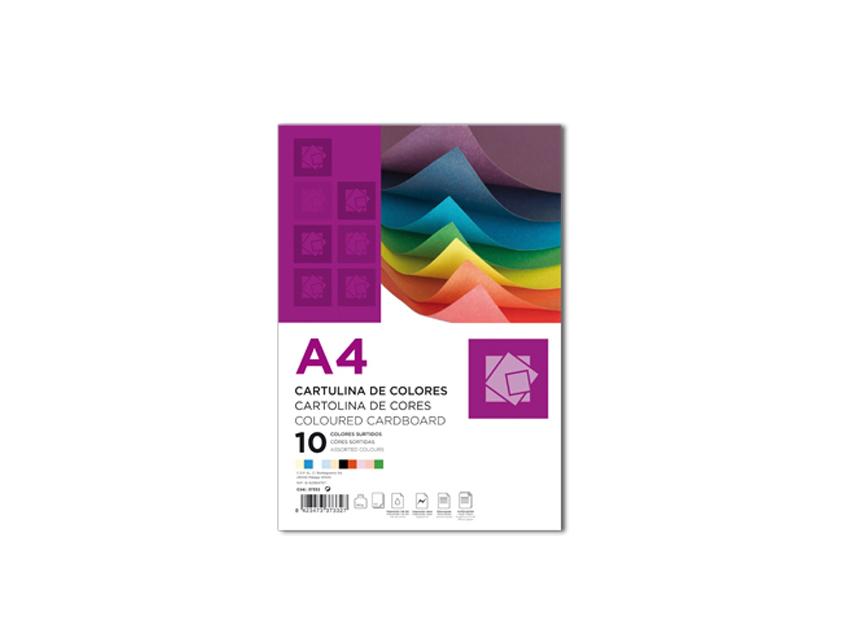 Cartolina A4 180g 10 Cores (100fls)