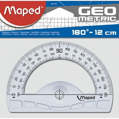 Transferidor 0-180º Maped 12cm